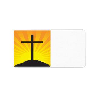 Cruz de Pascua Etiquetas De Dirección