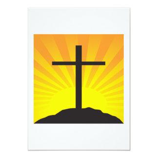 Cruz de Pascua Invitación 12,7 X 17,8 Cm