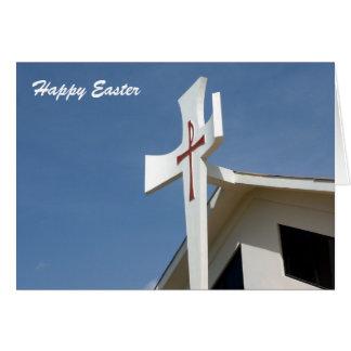 cruz de pascua tarjeta de felicitación