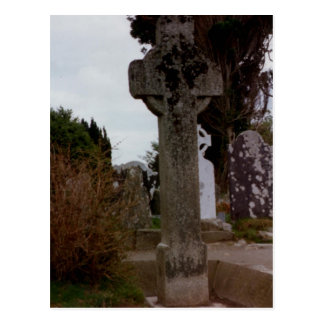 Cruz de piedra Glendalough Wicklow Irlanda Postal