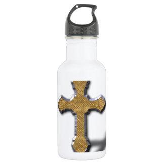 Cruz de plata con el metal Jesús del oro