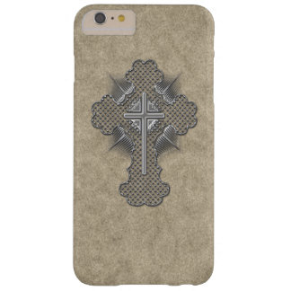 Cruz de plata del cromo funda barely there iPhone 6 plus