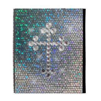 Cruz de plata impresa de Bling