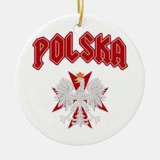 Cruz de Polska Eagle Adorno Navideño Redondo De Cerámica