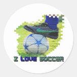 Cruz de SocceriGuide Etiquetas Redondas
