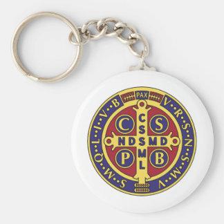 Cruz de St. Benedicto Llavero Redondo Tipo Pin