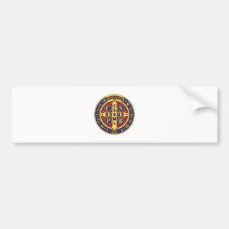 Cruz de St. Benedicto Pegatina Para Auto