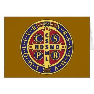 Cruz de St. Benedicto Tarjeta De Felicitación