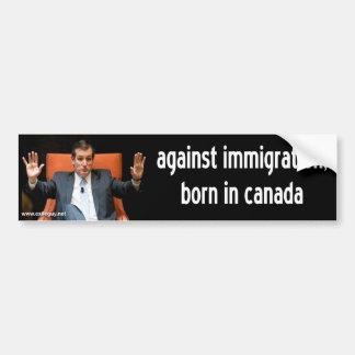 cruz de ted - contra la inmigración pegatina para auto