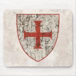 Cruz de Templar, apenada Alfombrilla De Ratón