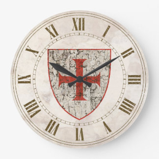 Cruz de Templar, apenada Reloj Redondo Grande