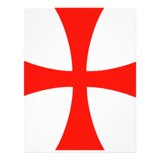 Cruz de Templar de los caballeros Membrete A Diseño