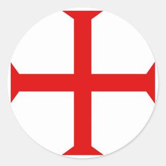 Cruz de Templar de los caballeros Etiquetas Redondas