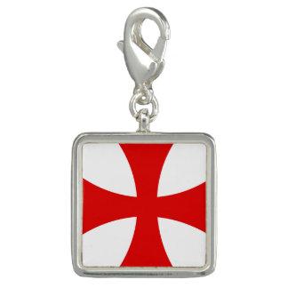 Cruz de Templar Dije Con Foto