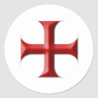 Cruz de Templar Pegatinas Redondas