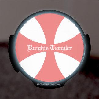 Cruz de Templar Pegatina LED Para Ventana