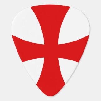 Cruz de Templar Púa De Guitarra