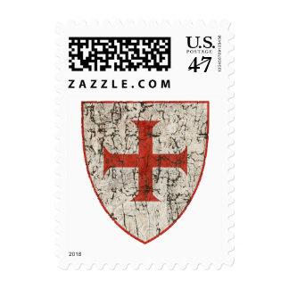 Cruz de Templar Sellos Postales