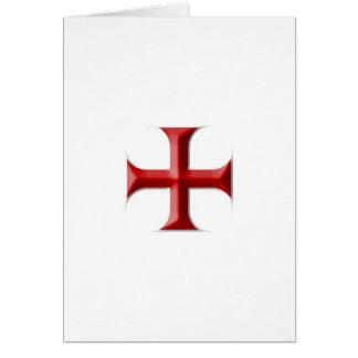 Cruz de Templar Tarjetas