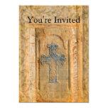 Cruz decorativa del cristiano del renacimiento del invitación 12,7 x 17,8 cm