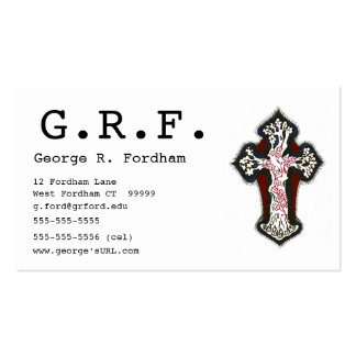 Cruz decorativa tarjetas de visita