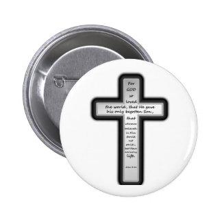 Cruz del 3 16 de Juan solamente Pins