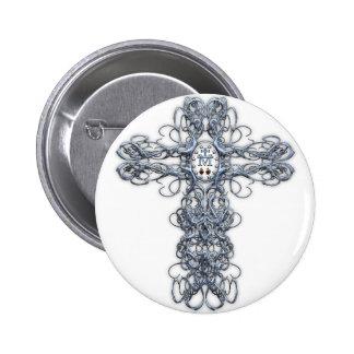 Cruz del alambre con la medalla milagrosa pin