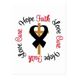 Cruz del amor de la esperanza de la fe del cáncer postal