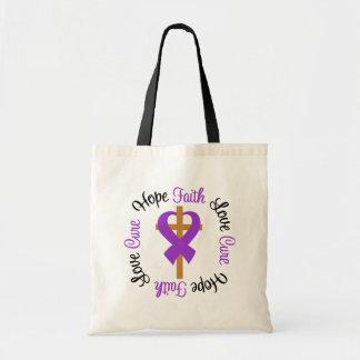 Cruz del amor de la esperanza de la fe del lupus bolsa tela barata