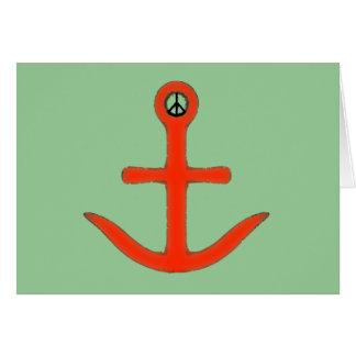 Cruz del ancla tarjeta de felicitación