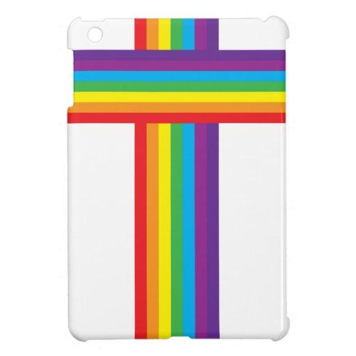 CRUZ del arco iris iPad Mini Carcasa