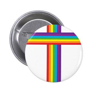 CRUZ del arco iris Pin