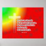 Cruz del arco iris posters