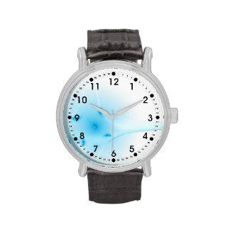 Cruz del azul del fractal relojes de mano
