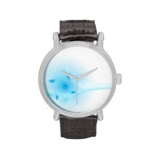 Cruz del azul del fractal reloj de mano