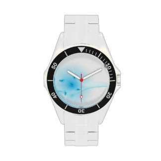 Cruz del azul del fractal relojes de pulsera