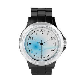 Cruz del azul del fractal relojes