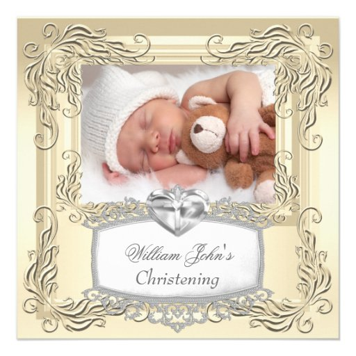 Cruz del bautismo del bautizo de la crema del oro  anuncio personalizado
