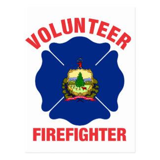 Cruz del bombero del voluntario de la bandera de tarjeta postal