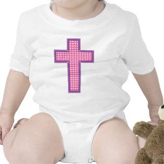 Cruz del corazón traje de bebé