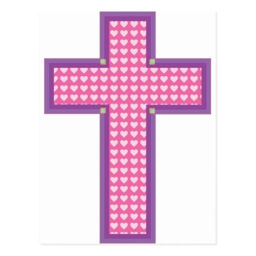 Cruz del corazón postal