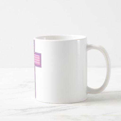 Cruz del corazón tazas de café
