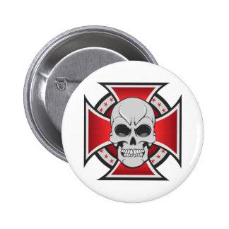 Cruz del cráneo y del hierro: Dibujo del vector: Pins