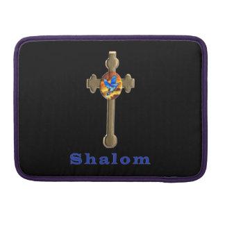 Cruz del cristiano de Shalom Funda Para Macbook Pro
