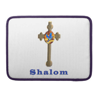 Cruz del cristiano de Shalom Fundas Para Macbooks