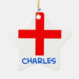 cruz del cruzado del martel de Charles de los suis Adorno De Cerámica En Forma De Estrella