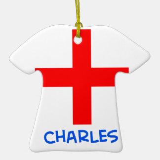 cruz del cruzado del martel de Charles de los suis Adorno De Cerámica En Forma De Camiseta