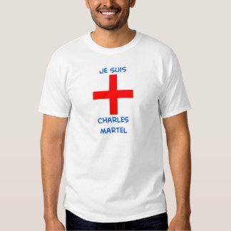 cruz del cruzado del martel de Charles de los suis Playera
