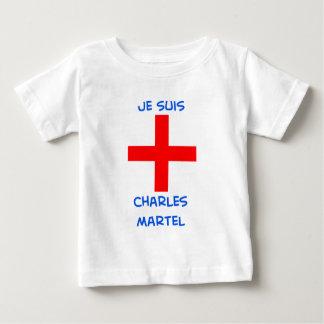 cruz del cruzado del martel de Charles de los suis Playera Para Bebé