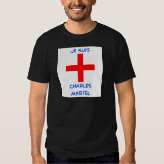 cruz del cruzado del martel de Charles de los suis Polera